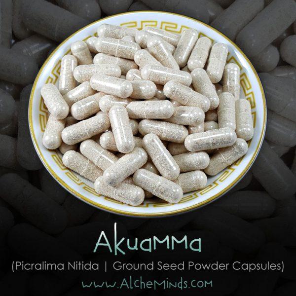 Akuamma (Picralima Nitida) Seed Powder Capsules Kratom Alternatives